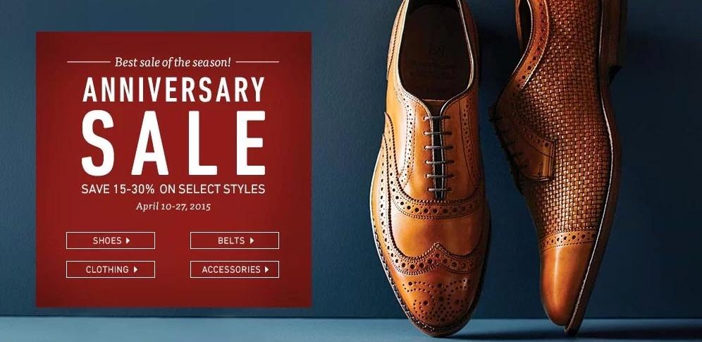 2015 Allen Edmonds Anniversary Sale
