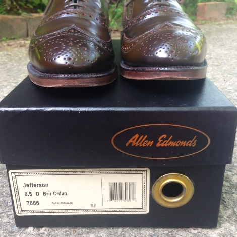 Allen Edmonds Brown Shell Cordovan Jefferson 8.5D