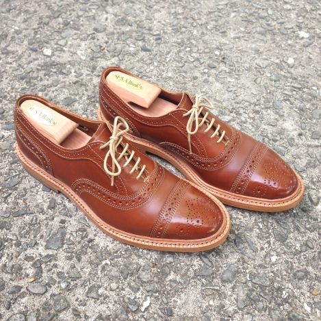 Allen Edmonds Tan Waxy Saddle Elgin 8.5D