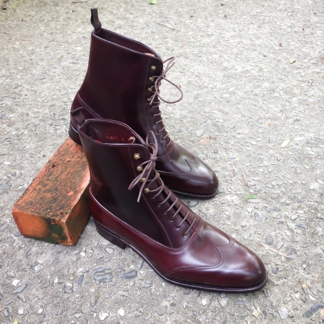 Carmina Burgundy Shell Cordovan Austerity Brogue Boot